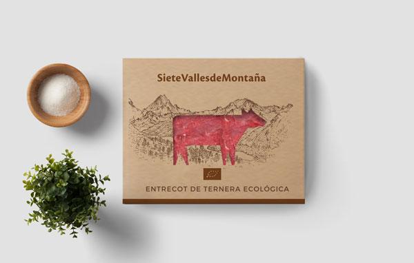 entrecot de ternera ecológica de siete valles de montaña